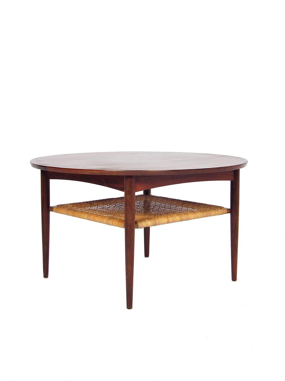 Rosewood danish design coffee table