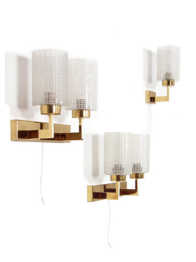 Wall lights glass brass