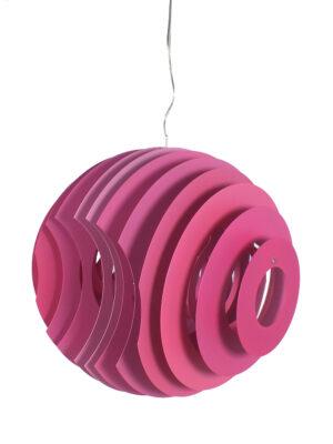 Big lamp with pink slats