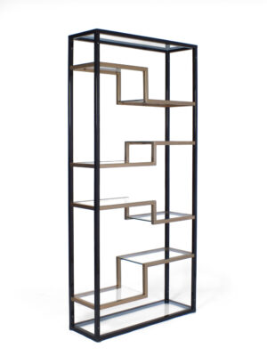 Free standing cabinet - brass - glass