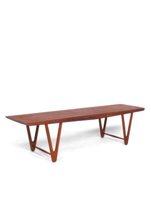 Teak veneer coffee table