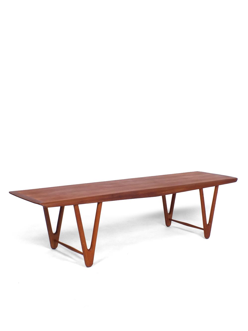 New Lange Teakhouten salontafel - toegeschreven aan Kurt Østervig @DB05