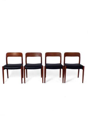 Set dining chairs – Niels O. Møller – J.L. Møller