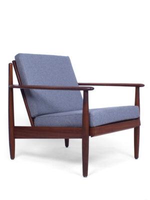 Teak purple lounge chair
