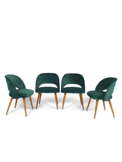 stoelen-set-4-groen-fluweel