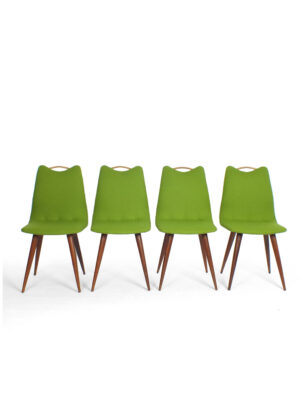 set groene eetkamerstoelen