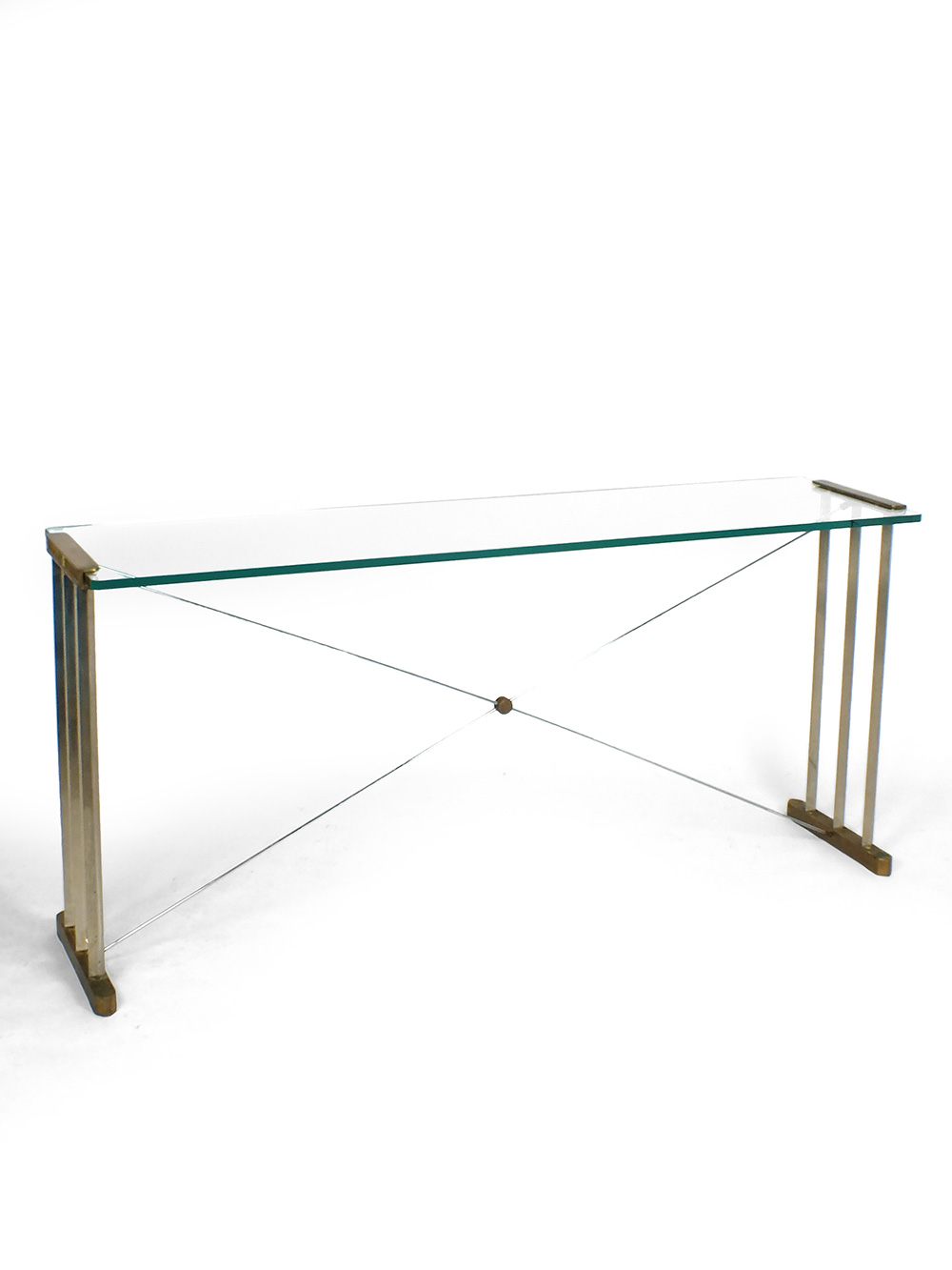 Aparte Glazen Eettafel.Peter Ghyczy Glass And Brass Side Table Console Tafel Vaen