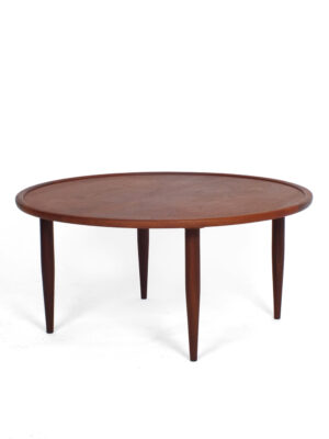 Coffee table round teak