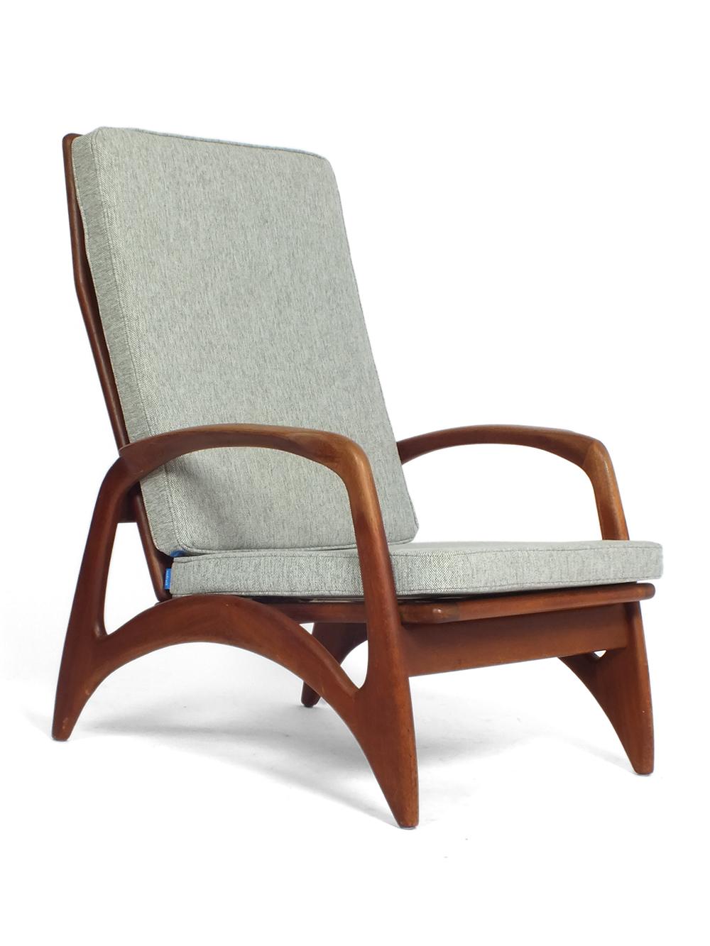Lounge Stoel Met Kussen.De Ster Gelderland Teak Wooden Lounge Chair Vaen