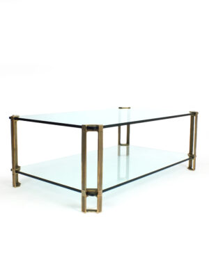 Peter Ghyczy glass and brass table