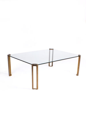Glass and brass salontafel – Peter Ghyczy