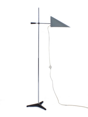 Grijze vloerlamp