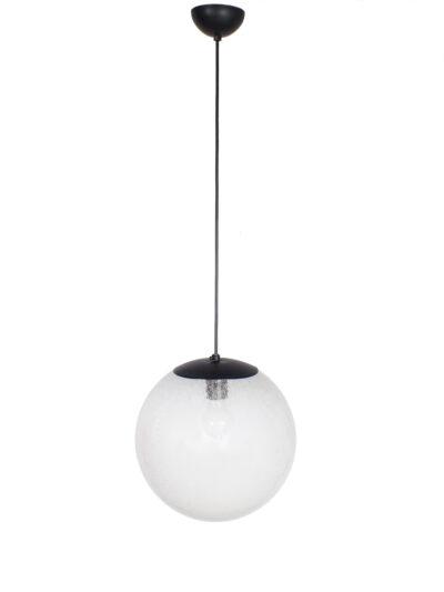 Glazen lamp met luchtbellen