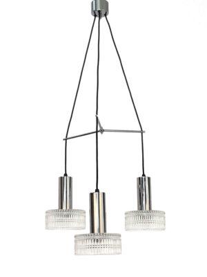 Hanglamp met 3 glazen kelken