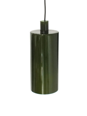 Donkergroen glazen hanglamp