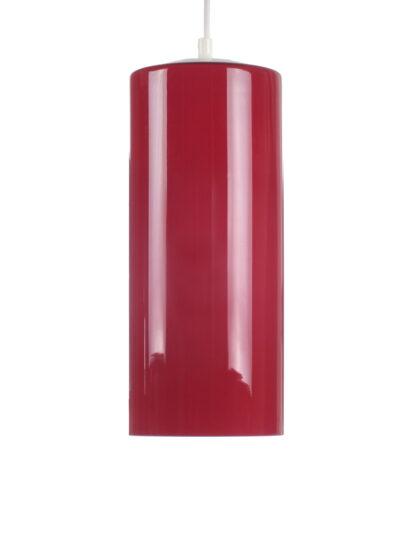rood glazen hanglamp