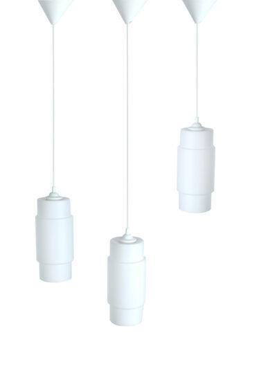 Wit glazen hanglampen