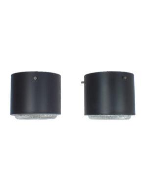 zwart metalen plafondlampen