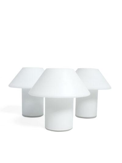 hala wit glazen tafellampjes