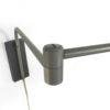 Grijs metalen wandlamp met arm