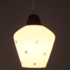 Glazen hanglamp met sterretjes