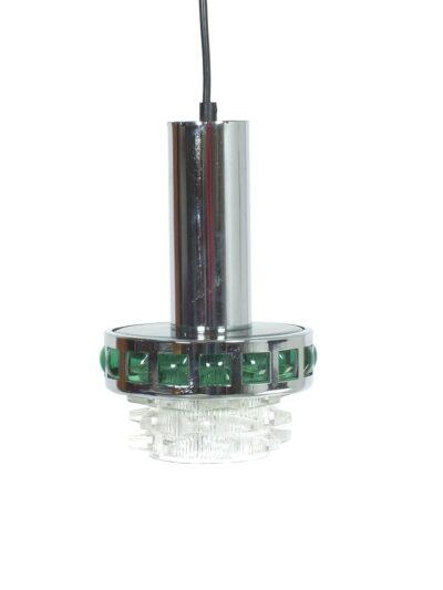 Groen chroom glas hanglampje
