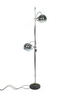 Hoge vloerlamp chromen bollen