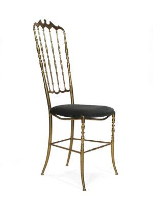 Chiavari stoel, italy, brass