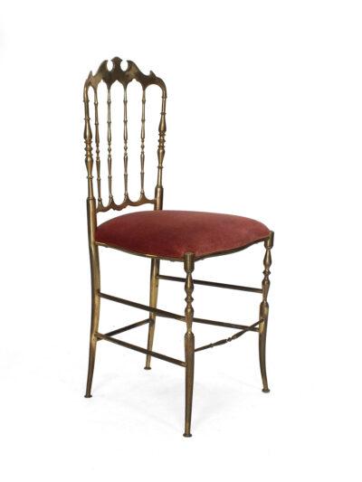 Chiavari stoel, italy, brass, hollywood regency
