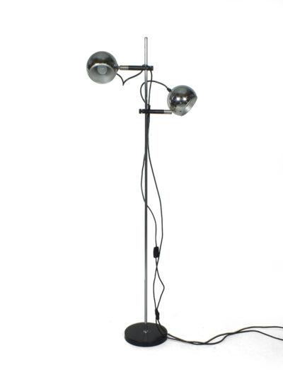 Vintage chromen bollenlamp